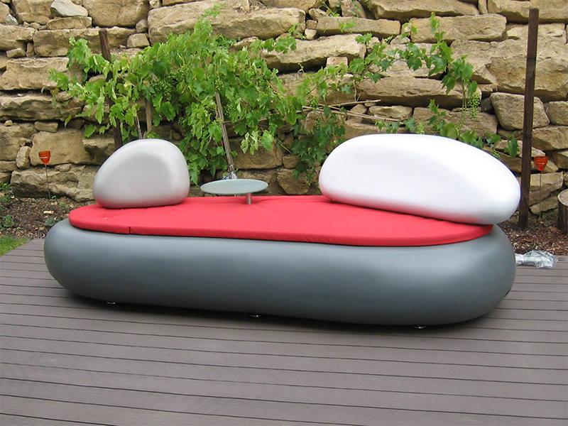 Garten Couch Sofa Steinoptik GFK